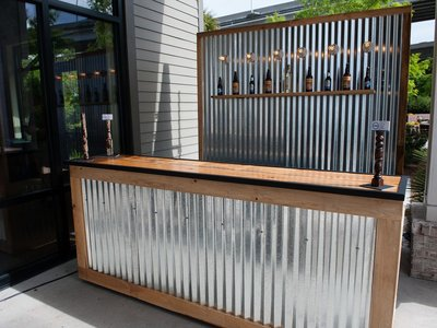 Build yourself a bar from corrugated stainless. We sell sheet cut to length